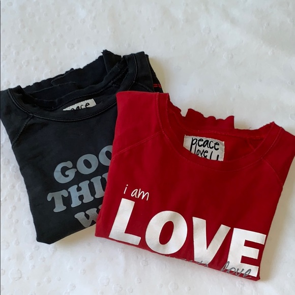 Peace Love World Tops - Peace Love World - Bundle of 2!